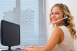 call center operator at office