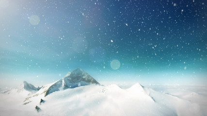 Mountain snow loop