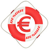 business symbol: backup the euro poster