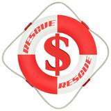 business symbol: backup the dollar poster