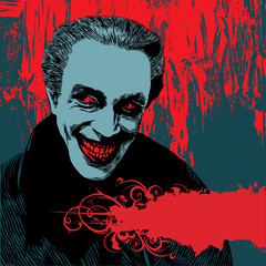 background with vampire Dracula