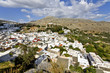 Traditional Greek village of Lindos at Rhodes island, Greece