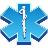 Isometric Paramedic Icon poster