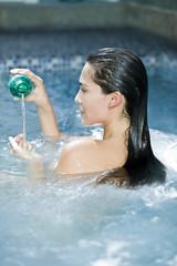 Woman taking a spa treatment
