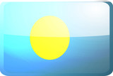 Flag of Palau button poster