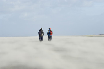 sandstorm on Schiermonnikoog beach