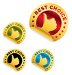 "set of ""best choice"" stickers"