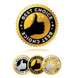 "set of ""best choice"" label"