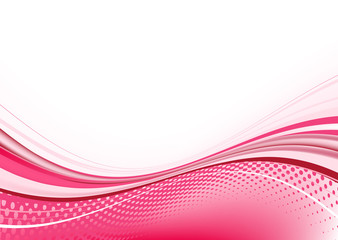Vector illustration of pink abstract techno background