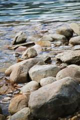 Rocks on the shore line