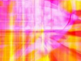Vibrant yellow red and pink computer generated image poster
