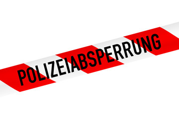 band polizeiabsperrung