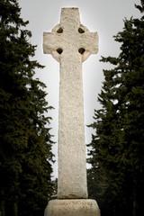 A stone Celtic cross