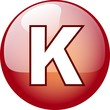 K character button - red 3d