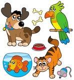 Fototapety Cartoon pets collection