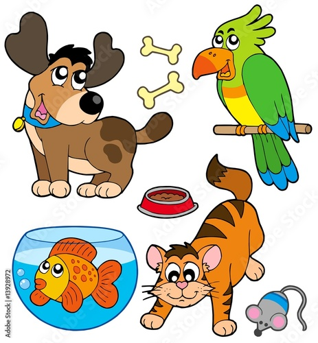 goldfish cartoon cute. Cartoon pets collection