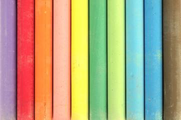 des craies de couleurs