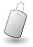 Vector identity tag or dog tag or identity plates