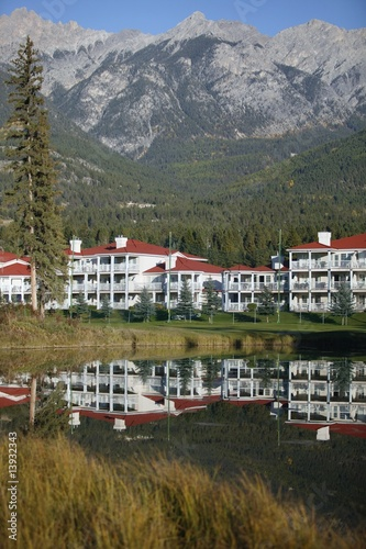 A resort on a golf course