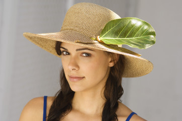Portrait of a woman wearing hat