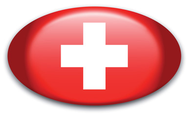 Button Schweiz Fahne oval