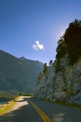 A scenic mountain road