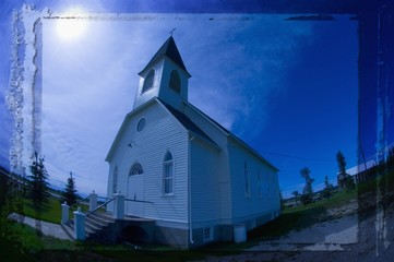 Funky traditional church in Stony Plain Alberta