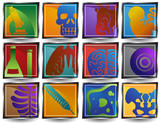 Close Up Biology Icons poster
