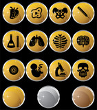 Round Gold Biology Buttons poster