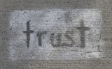 Trust on concrete poster