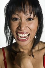 Frau lachen