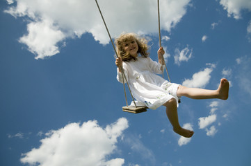 Swinging girl