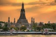 Quadro Wat Arun sunset in Bangkok, Thailand