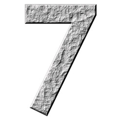 3D Stone Number Seven