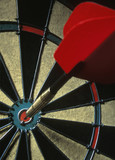 Dart on dartboard