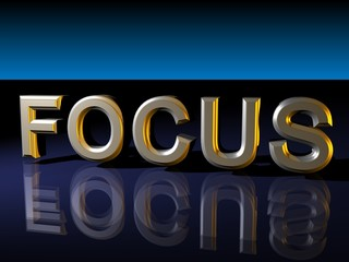 Focus Text on Reflective Background
