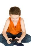 Teenage boy playing video game poster