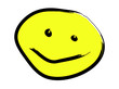 Happy Yellow Cartoon Face