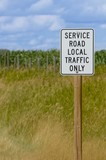 Service road local traffic only sign poster