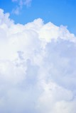Fluffy white clouds poster