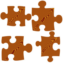 Wooden Puzzle Pieces