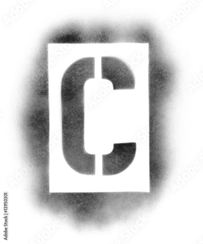 stencil letters in spray paint from ssilver royalty free stock photo