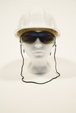 Mannequin wearing sunglasses and a hardhat poster