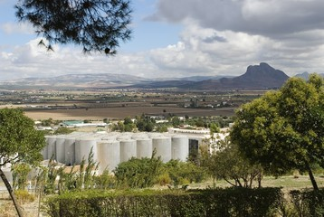 Industrial silos in Antequera, Spain
