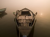 Boat in the water, Varanasi, India..