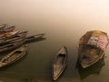 Boats in the water, Varanasi, India..