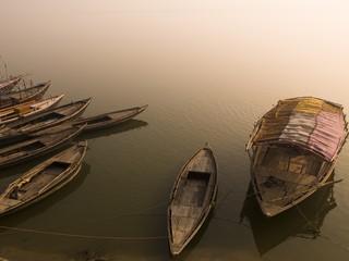 Boats in the water, Varanasi, India..