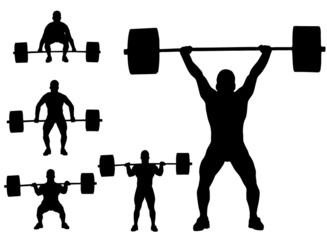 sollevamento pesi (vettoriale)