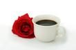cafe noir, matin romantique
