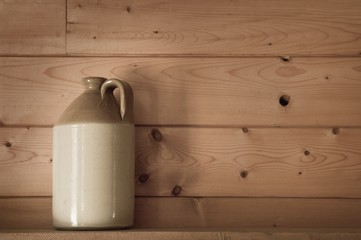 Jug on a shelf..